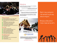 Something to say – religious education promotional leaflet