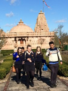 Young Ambassadors at Jain temple