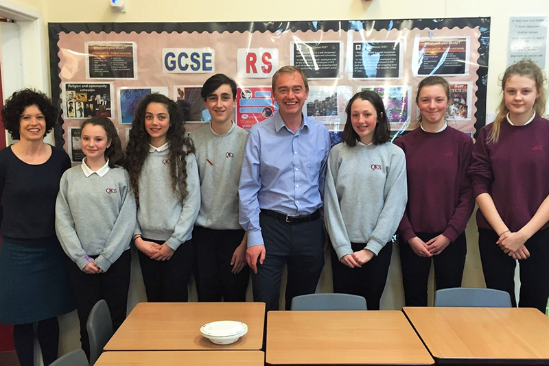 Engaging with MP Tim Farron