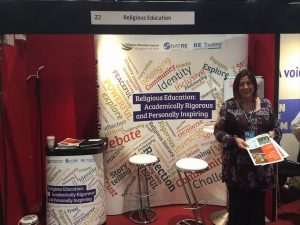 Naomi Anstice on the stand at the Labour Party Conference