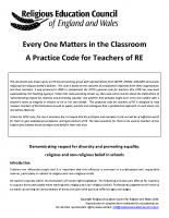 Practice Code for Teachers of RE
