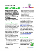 Climate change in religious education