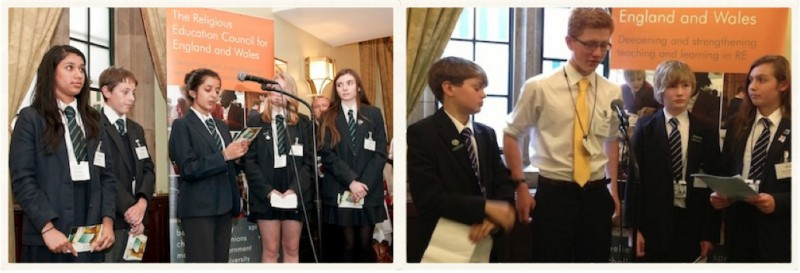 Young people present to MPs